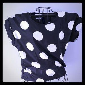 Polka dot short sleeve blouse
